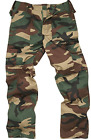Men's Bdu Military Army Combat Cargo Woodland Camo Work Trousers M65 Pants 28-46