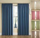 HEADER TAPE TRANQUILITY PLAIN STRIPE THERMAL BACKED CURTAINS NEXT SEMI BLACK OUT