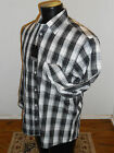 Recognize Collection Men's Long Sleeve Shirt Style#MLS906 Black/White NWT