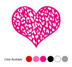 Leopard Heart graphic Love Vinyl Car Laptop Window Wall Decals Stickers 5