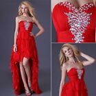 Homecoming Party Ball Gown Prom Bridesmaid Evening short front long back dress
