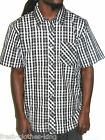 RIP CURL Shirt New Mens Black Plaid Gonz Checkered Button Up Choose Size