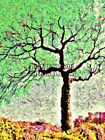 NATURE PAINTING LANDSCAPE TREE BRANCH LEAF GREEN POSTER PRINT