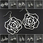 EB201-218 1 pair Tibetan Silver Flower Leaf Animal Dolphin Heart Tibet Earrings