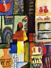 AUGUST MACKE TRADERS WITH JUGS OLD MASTER ART PAINTING PRINT POSTER