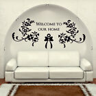 WELCOME wall sticker homes quote decal bedroom lounge friends stickers art vinyl