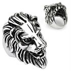 Stainless Steel Lion Head Cast 41mm Ring R567