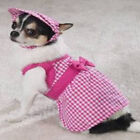 East Side Collection Fuschia Gingham Dog Sundress Dress S M L XL