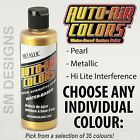 Auto Air Custom Airbrush Paint 120ml All Pearl Metallic Colours Water Based