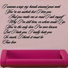 Pink True Love Song Music Lyrics Design 1 Decal Vinyl Wall Sticker