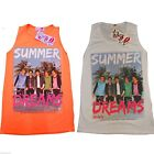 "NEW GIRLS ONE DIRECTION ""SUMMER DREAMS XXX"" STYLISH FASHION VEST T SHIRT TOP"