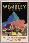 The New Wembley 1925 vintage travel poster reprint