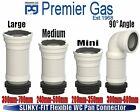 Flexible Pan Connector Toilet Waste Soil Pipe Sizes Mini - Medium - Large & 90°