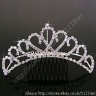 Princess tiara birdesmaids flower girls bridal wedding party Swarovski Crystal