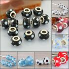 Murano Round Dots Single core Lampwork Glass Beads Fit European Bracelet 7 Types