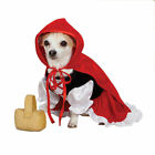 Lil' Red Riding Hood Dog Costume Detachable Red Cape Basket Toy ZACK & ZOEY
