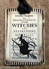 Hang Tags  SPOOKY HALLOWEEN FLYING WITCH TAGS or MAGNET #708  Gift Tags