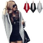 Women Batwing Cape Poncho Knitted Long Sleeve Cardigan Sweater Tops Coat 3 Color