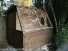 8FT X 6FT HEAVY DUTY WOODEN POTTING SHED GREENHOUSE INCLUDING FREE FITTING