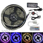 5M Waterproof 5050 RGB SMD LED Strip Light 24 44 Key IR Remote Controller