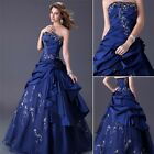 Quinceanera Wedding Dress Bridesmaid Evening Party Prom Gown Formal Dresses