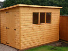 Quality Pent roof wooden garden storage shed