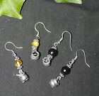 Witch's Cauldron Earrings - Pagan, Wicca, Sterling Silver, Magic