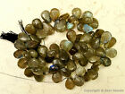 "Labradorite 8-12mm (Cabochon Pears 9"" Strand) Select-A-Size"