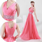 Women's Sleeveless long Dresses Bridesmaid Evening Party Formal Prom Dress Gown