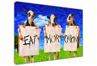 COWS EAT MORE CHICKENS LARGE CANVAS PRINT ART / PICTURE / OIL PAINTING EFFECT