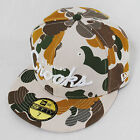 Crooks & Castles New Era Flat Peak Fitted Tan Camo Urban Desert Hat Cap