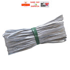 Raffia Paper Ribbon Gift Wedding Decorating Scrapbook SILVER 2m 10m 20m 50m 100m