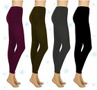 Thermo-Leggings S/M L/XL XXL schwarz anthrazit dunkelbraun brombeer NEU *Winter*
