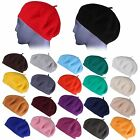 Brand New Ladies Men Unisex 100% Wool Beret French Style Winter Fashion Hat Cap