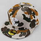 Crooks & Castles New Era Hirst Chain Flat Peak Fitted Tan Camo Urban Hat Cap