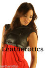 Ladies leather crop short Top cropped waist coat Lela 6 8 10 12 14 16