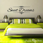 Sweet Dreams Vinyl Art Home Wall Room Lettering Quote Decal Sticker Decoration