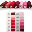 C2 Red/Pink/Brown Colour Moon Sewing Machine Thread 1000yd Coats Polyester