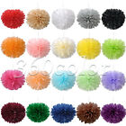 "6""/8""/10""/15"" Tissue Paper Pom Poms Flower Ball Wedding Party Bridal Decorations"
