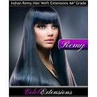 "Remy Indian DELUXE FULL HEAD Human Hair Extensions Remi 16"" 18"" 20"" 22"" WEFT 4A*"