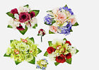 ROSE ORCHID & HYDRANGEA BUNCH/BOUQUET - ARTIFICIAL SILK FLOWERS/WEDDING/GRAVE
