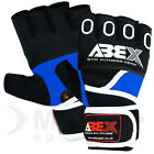 MMA Grappling Gel Gloves Muay Thai Boxing UFC Punch Bag Mitt Blue - S - M -L -XL