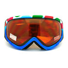 Ski Snowboard Goggles Blue Colorful Polka Dot Anti Fog Foam Padding