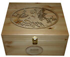 RUSTIC PINE WOODEN MEMORY STORAGE BOXES BLUEBELL FAIRY PERSONALISED LOCKABLE UK