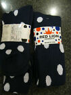 Red Lion Dots Socks 7641 Navy & White Footed 10-13 Volleyball Soccer Softball