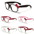 Hello Kitty Womens Clear Lens Sunglasses with Bow Party Glasses Black White Pink