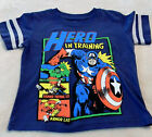 Marvel Boy's Tees Sizes 2T-5T Capt. America, The Hulk And Friends On Front~Cute