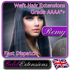 ♚♚ REMY Indian DELUXE FULL HEAD Human REMI Hair Extensions WEFT #1 Jet Black
