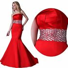 Mermaid Formal Party Evening Gown Bridesmaid Prom Cocktail Wedding Long Dress