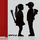 Banksy stencils boy meets girl with baseball bat reusable stencil